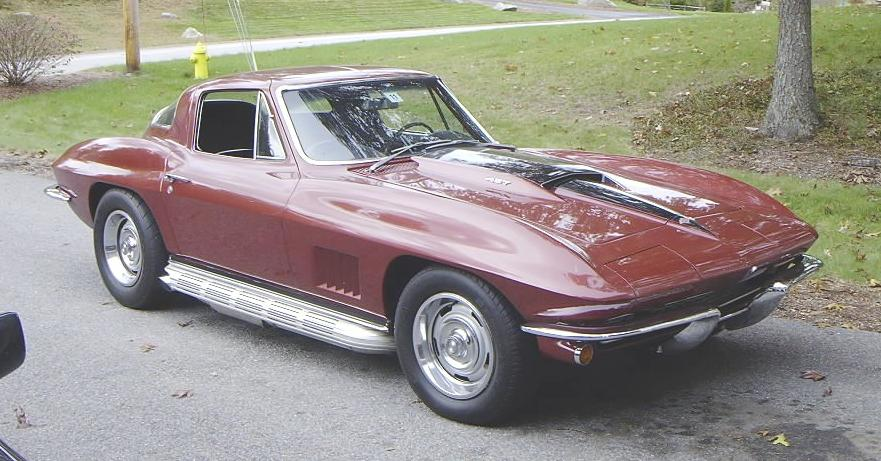 Marlborough Maroon 1967 Chevrolet Corvette Sting Ray