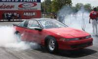 Red 1991 Eagle Talon Talon Tsi RWD