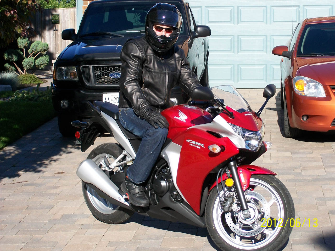 red 2012 Honda CBR 250R ABS