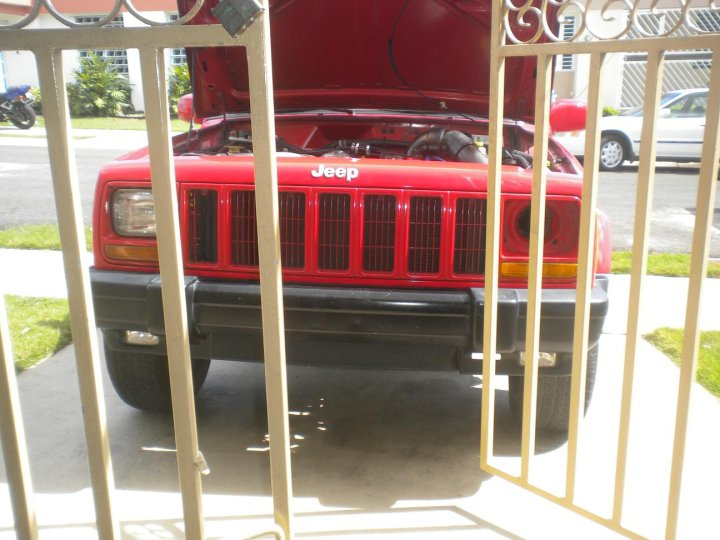 red 1998 Jeep Cherokee sport