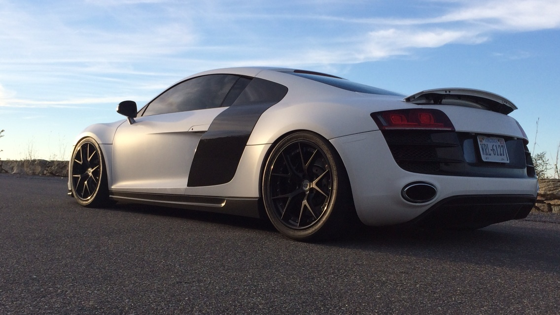 white 2010 Audi R8 5.2 v10  Eurocharged tuned