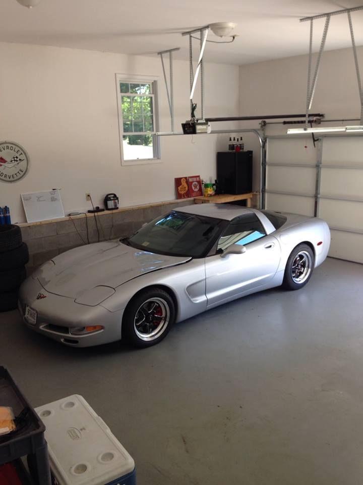 Silver 2002 Chevrolet Corvette Coupe
