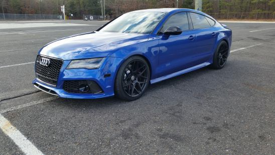 blue 2015 Audi RS-7 APR