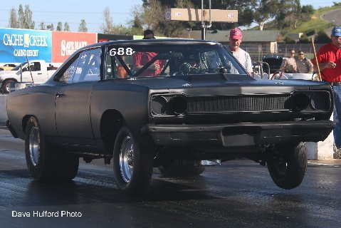 Flat Black 1968 Plymouth Road Runner