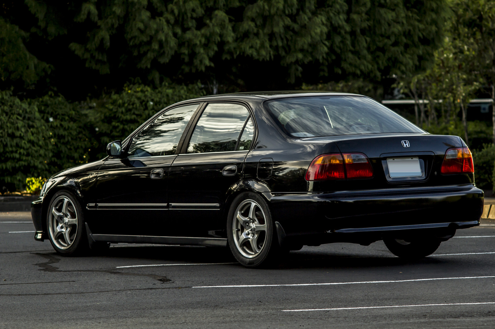 black 2000 Honda Civic LX stock k24a2 N/A