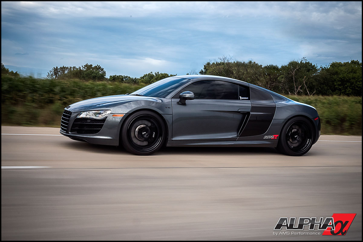 Dark Metallic Gray 2012 Audi R8 Twin Turbo AMS