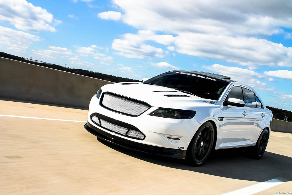 White / Black 2010 Ford Taurus SHO