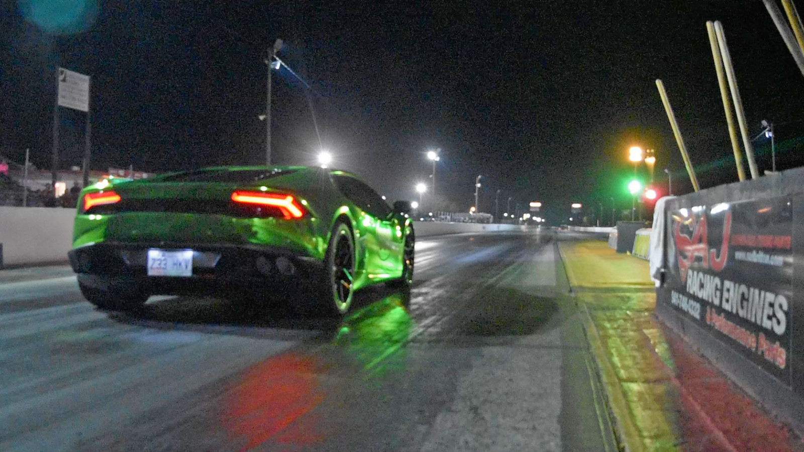 Green 2015 Lamborghini Huracan Heffner Twin Turbo