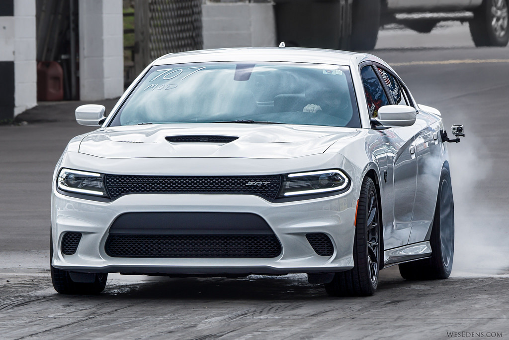 White 2015 Dodge Charger Hellcat SRT
