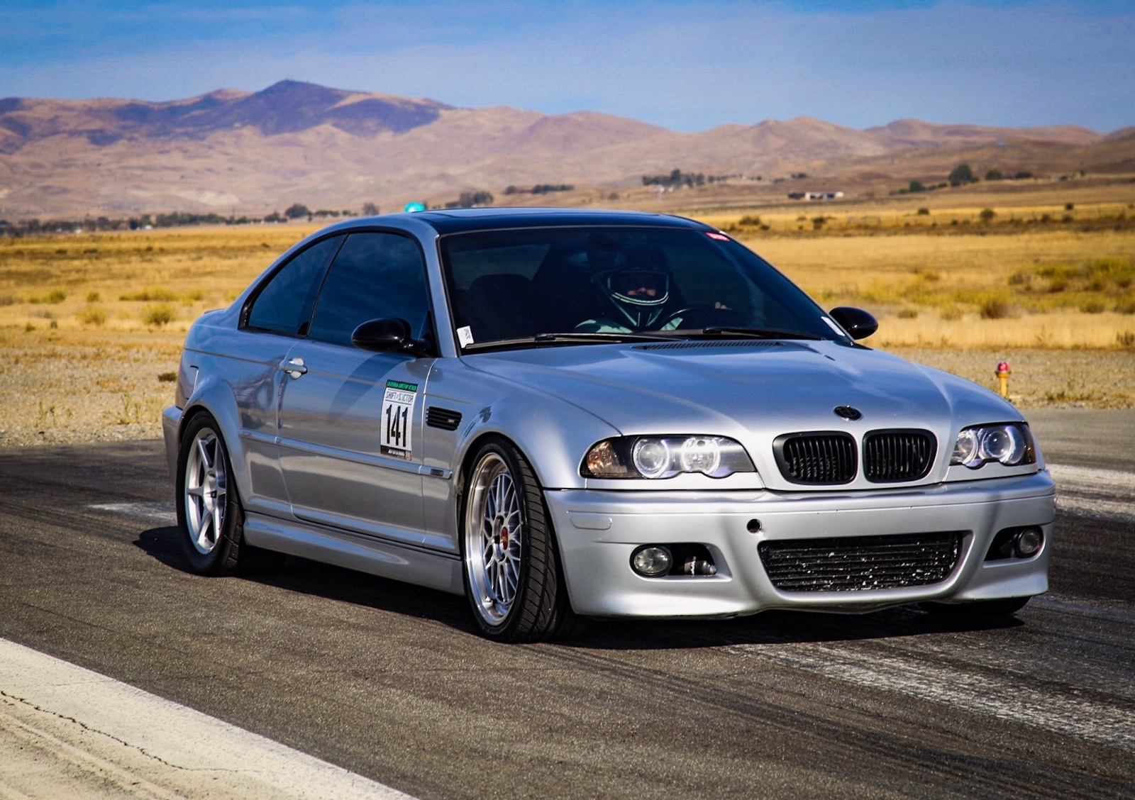 Silver 2003 BMW M3 HPF turbo kit
