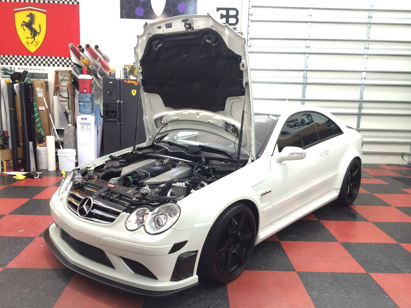White  2008 Mercedes-Benz CLK63 AMG Black Series