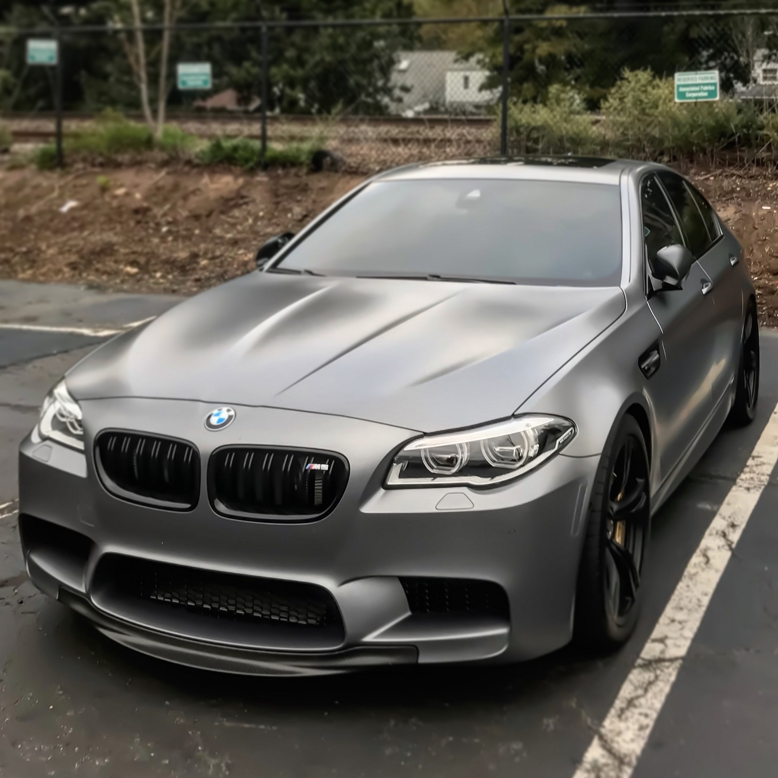 Frozen Grey 2015 BMW M5 F10