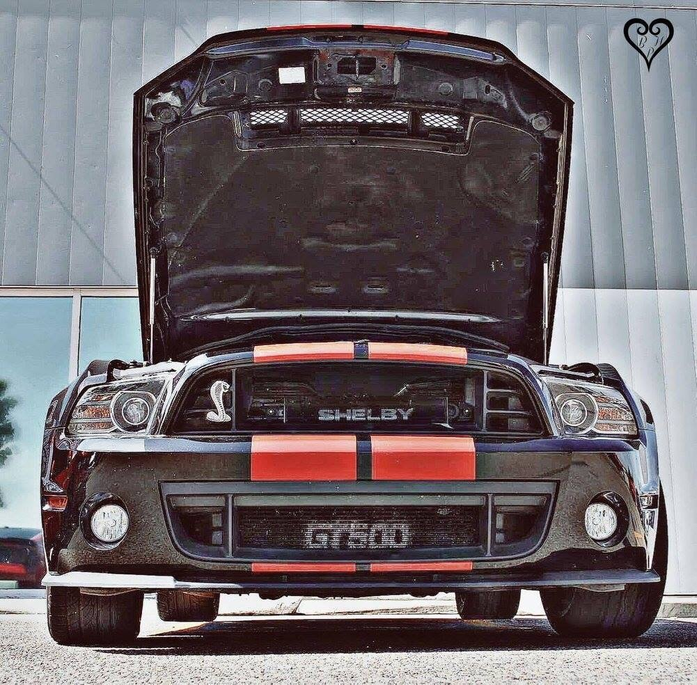 Black w/Red Stripes 2013 Ford Mustang Shelby-GT500
