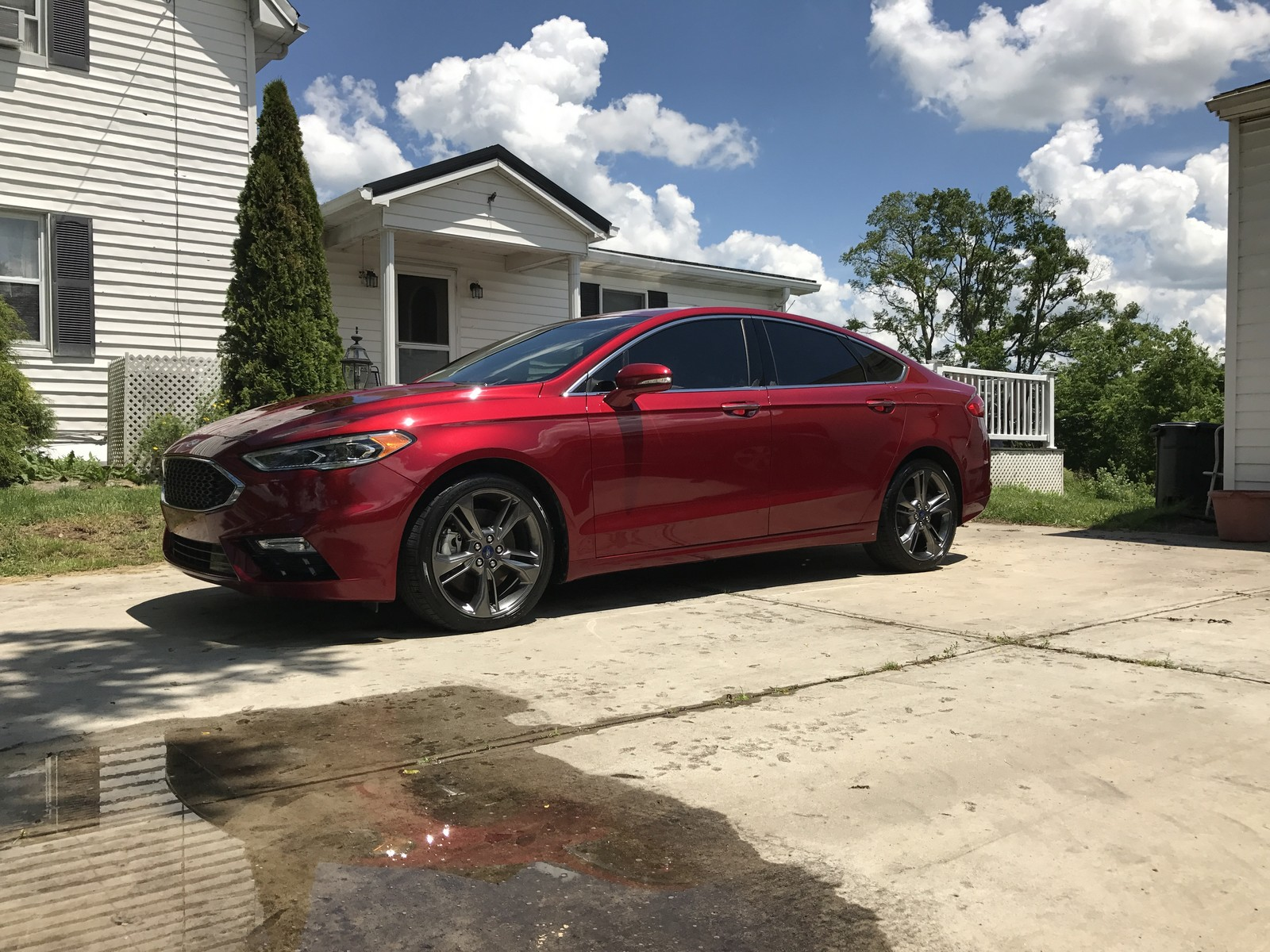 Ruby red 2017 Ford Fusion Sport