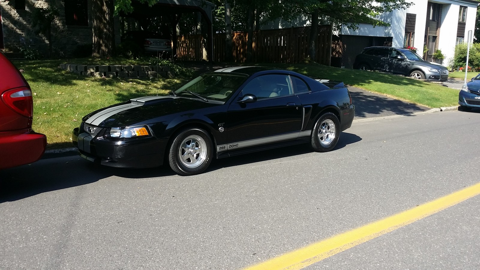 black 2004 Ford Mustang GT