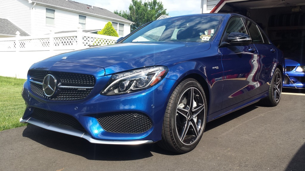 Metallic Blue 2017 Mercedes-Benz C43 BMS JB1