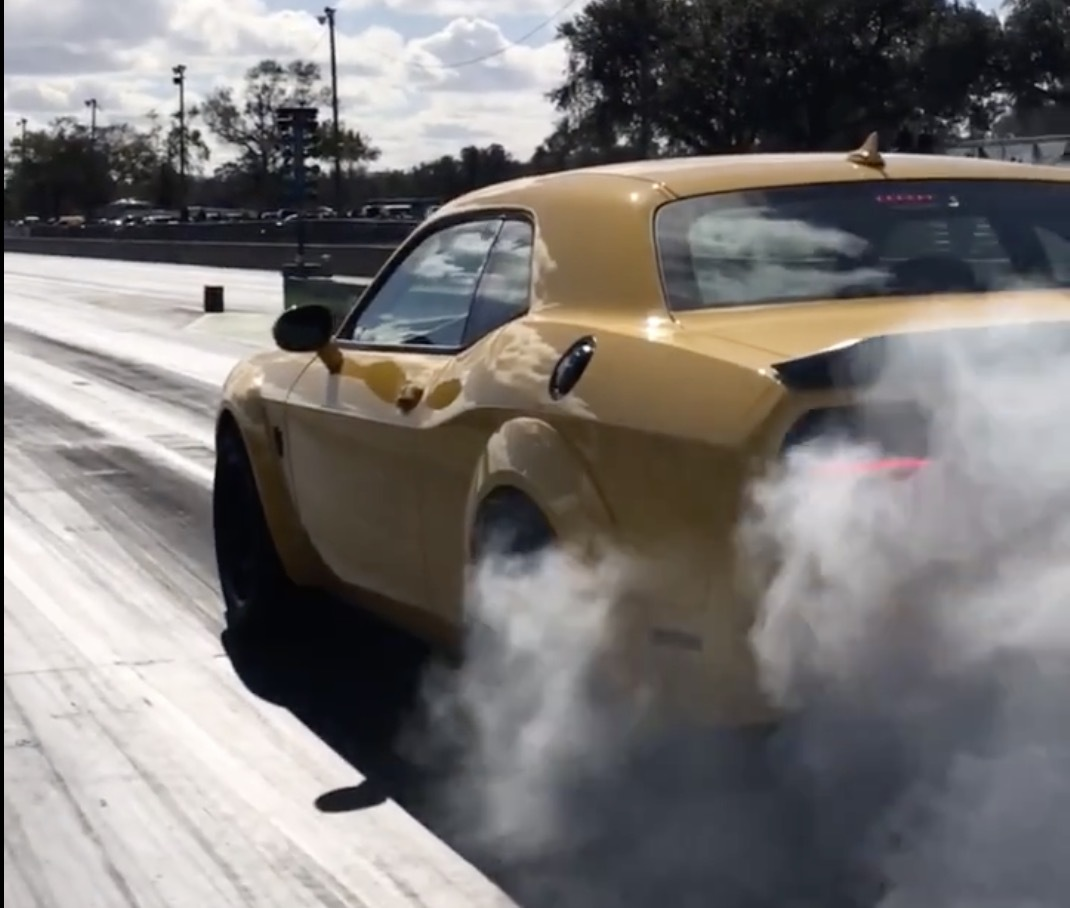 Yellow 2018 Dodge Challenger Demon