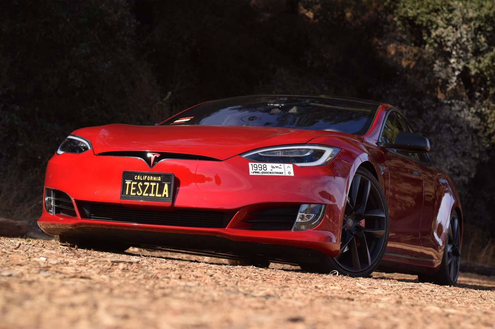 Multicoat Red 2016 Tesla Model S P100D Ludicrous