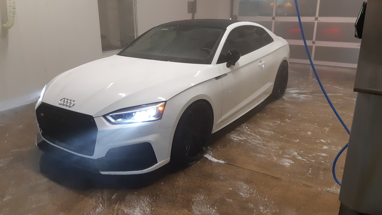 Ibis white 2018 Audi S5 Coupe