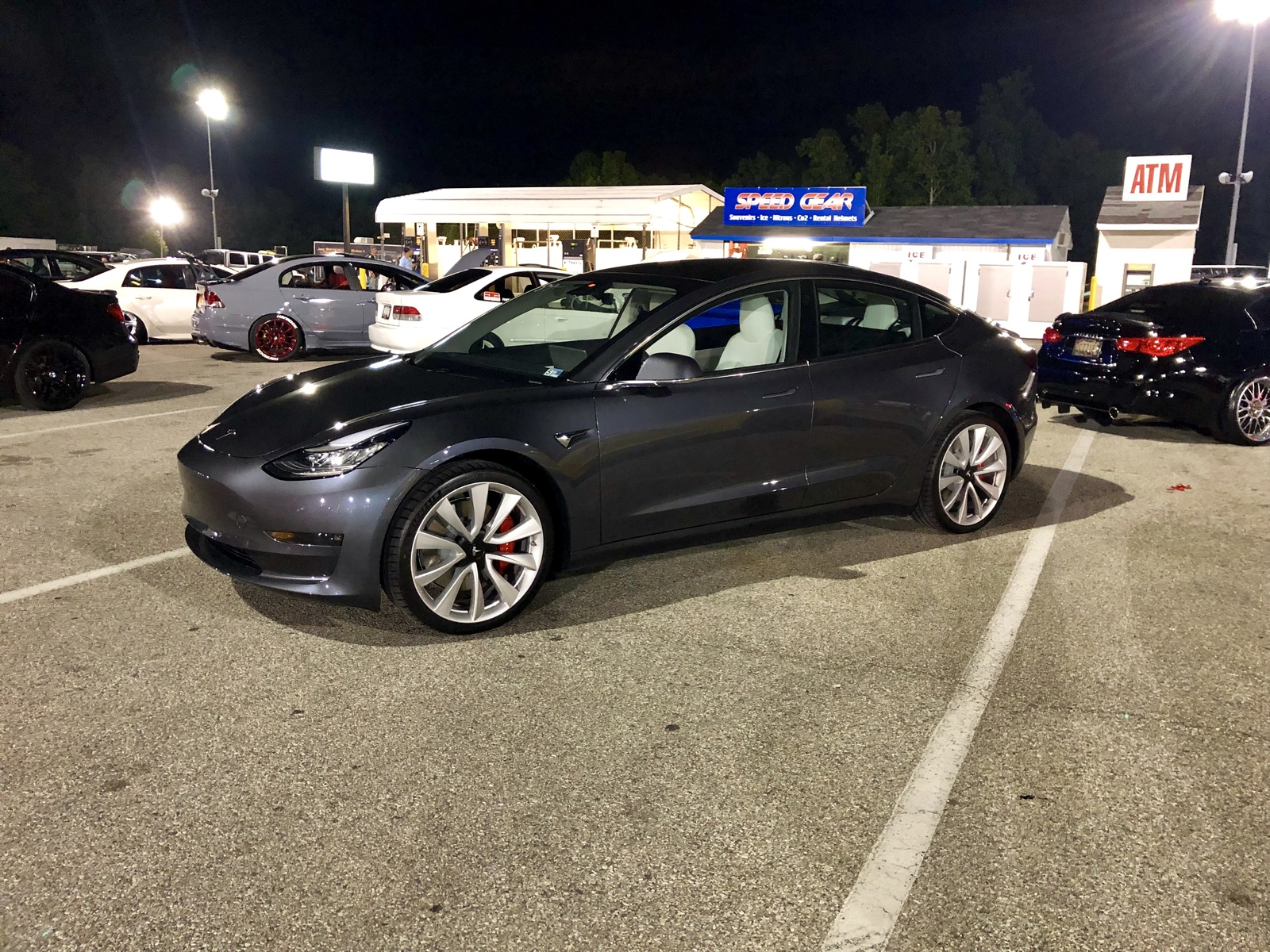 Midnight sliver Metallic 2019 Tesla Model 3 Performance