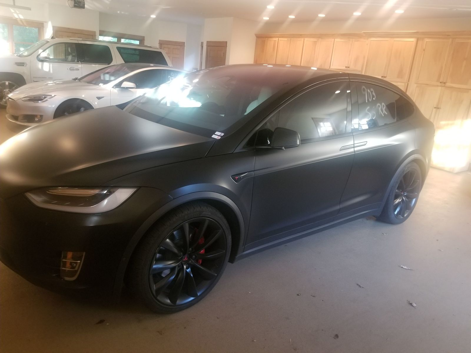 2017 Black Matte Tesla Model X P100DL picture, mods, upgrades
