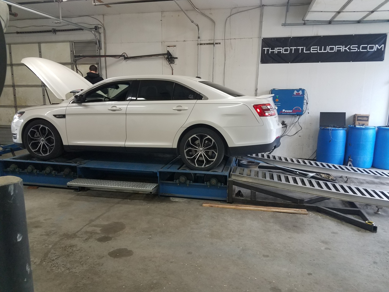 2013 White Ford Taurus SHO picture, mods, upgrades