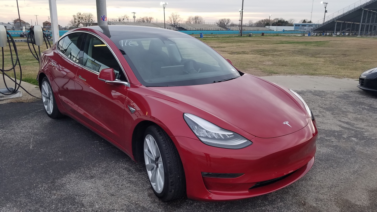 2019 Red Tesla Model 3 Performance Stealth picture, mods, upgrades