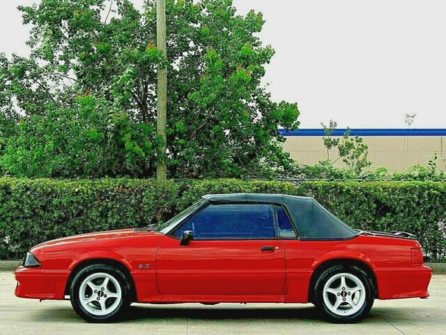 red 1992 Ford Mustang GT
