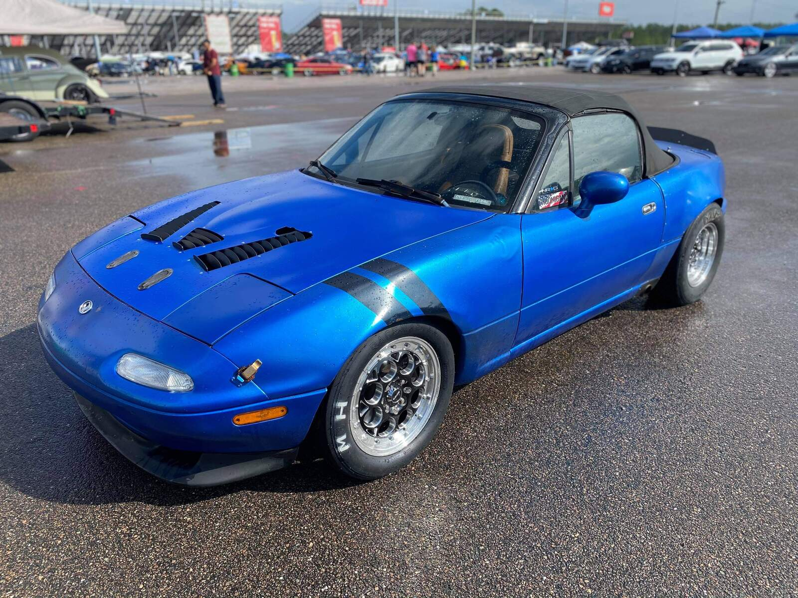 Blue 1997 Mazda Miata MX5 1.8 turbo