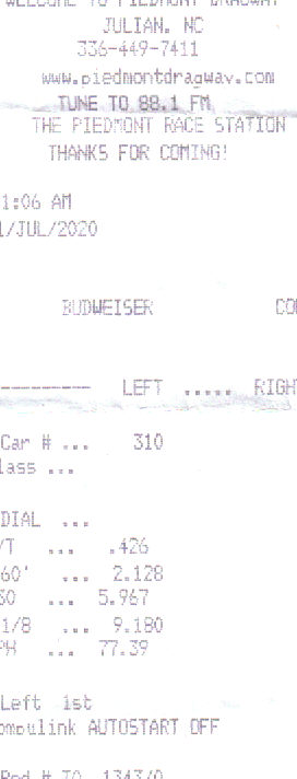 1991  Honda Civic si Timeslip Scan