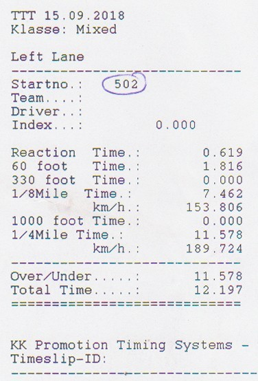 1989 Withe Opel Kadett GSI Turbo Timeslip Scan